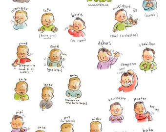 En Baby Sign Language Poster English Printable Etsy