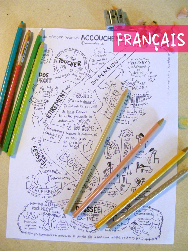 FR FRENCH  Giving birth coloring sheet  for preparation to image 0