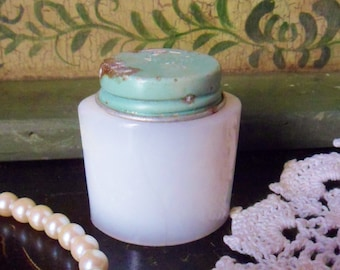 Ponds Cold Cream Jar, Antique Milk Glass Face Cream Jar