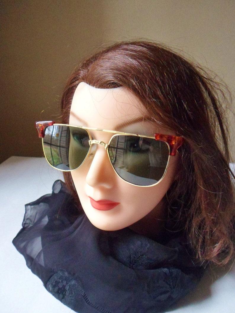 17053144580b Sassy Green Sunglasses Tortoise and Gold Framed Glamour | Etsy