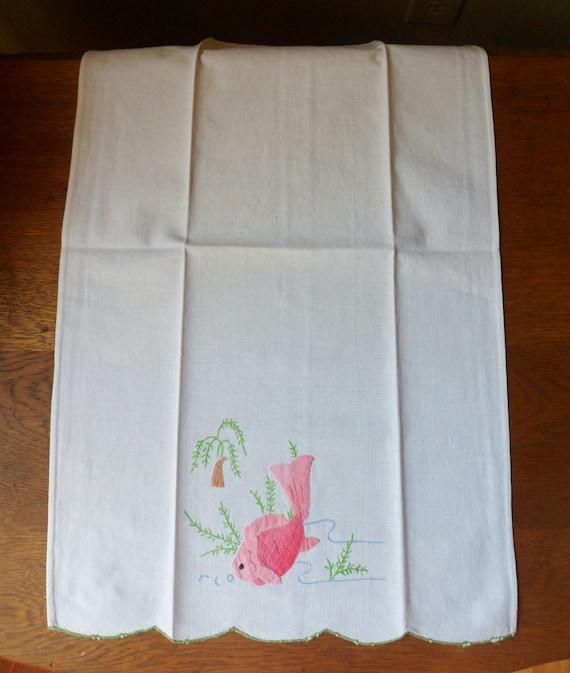 Personalised Towel Koi Carp Embroidered Towels Koi 21