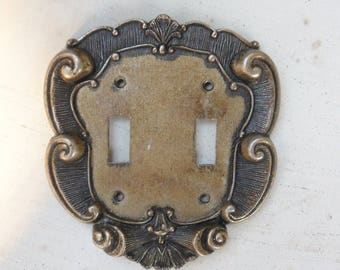 Double Switch Plate Cover, Vernon Metal Light Switch Cover 60s