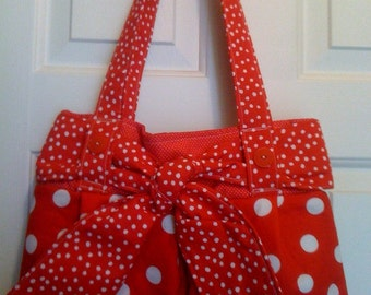 EDS Handmade Handbag Cherry Cream2