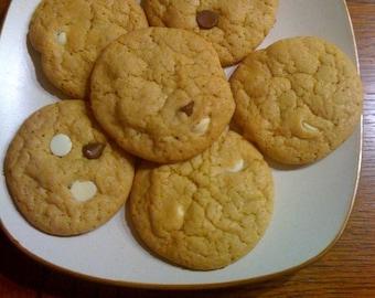 Baked Zebra Cookies 3 Dozen Chocolate Chip and Vanilla Chip
