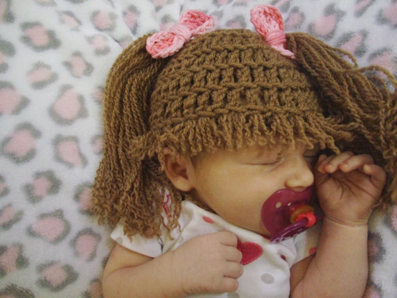 Toddler Kids Girl/&Boy Baby Infant Crochet Knit beanie cap Cabbage Patch costume