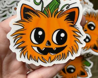 Pumpkin kitty vinyl stickers (2019)