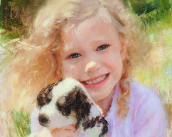 Custom oil portraits from photos, have your picture painted, painting commission