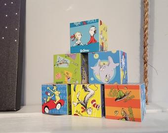 Dr. Seuss wood blocks, Dr. Seuss baby shower, Dr. Seuss nursery, Dr. Seuss classroom, Dr. Seuss blocks, Dr. Seuss puzzle, Dr. Seuss gift