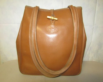 Longchamp bamboo leather purse made in France 153cf8e456