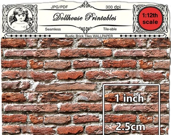1//12TH SCALE DOLLS HOUSE SET 6 SMALL TERRACOTTA CERAMIC BRICKS//TILES