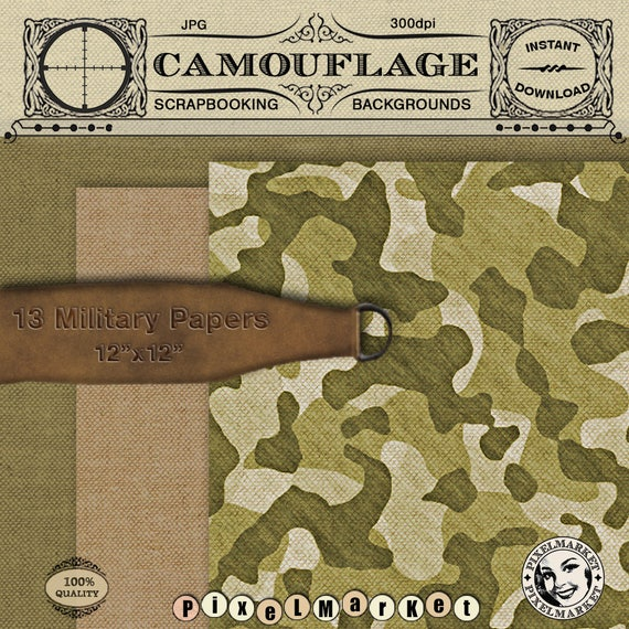 digital camo paper realistic military fabric texture etsy