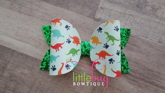 Dinosaur elastic inspired Dinosaur hair ties Dinosaur foe girly dinosaur foe-5//8