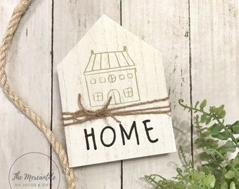 Mini House 5x7 HOME Shelf Sitter Sign