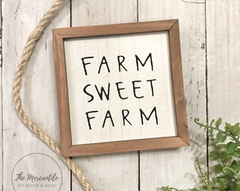 Farm Sweet Farm Shelf Sitter Sign