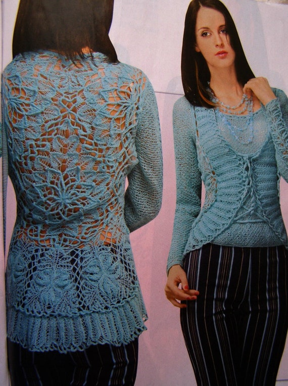 Lace Trench Coat in Crochet pattern magazine Duplet 188 Self Study tutorial