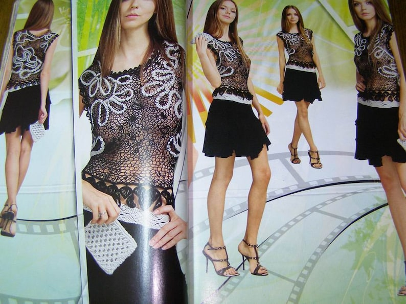 Weddingcoctail lace dress,skirt,top Russian special issue Summer lace 3