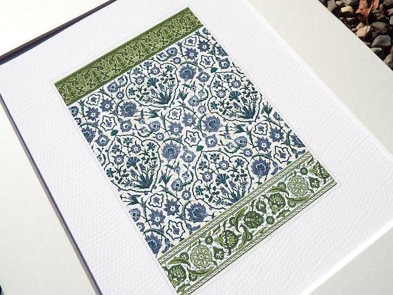 Piastrelle marocchine design 4 in indaco blu scuro verde e etsy