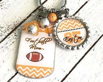 Personalized Football Keychain for Mom 1c248ea34b