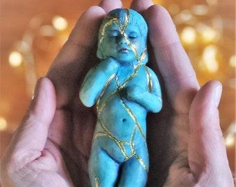 Kintsugi Child, Healing Sculpture, FREE Shipping, Limited Edition Shaping Spirit, Debra Bernier