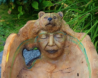 To See With The Heart, Elder & Bear Bowl, By Debra Bernier, Shaping Spirit