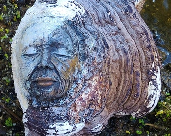 Reserved for Loretta, Oct. payment 3 of 3,  The Ancient Mother, Dried Mushroom Woman by Debra Bernier, Shaping Spirit