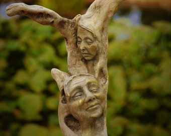 The Dream Of All My Dreams, Talking-Stick, Driftwood Staff By ShapingSpirit, Debra Bernier