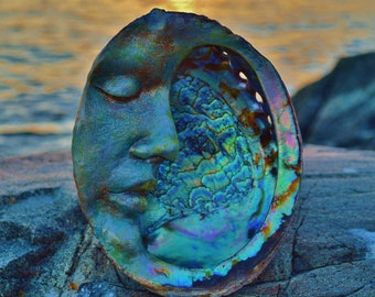 Reserved for Ronda, August 3 of 3, Abalone Moon, Mother Of Pearl, by ShapingSpirit