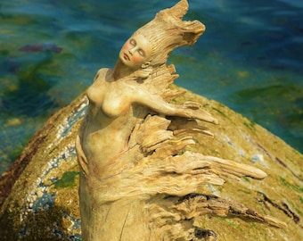 Reserved for Art, June 2 of 3, Dance Into The Wind, Driftwood Woman By Debra Bernier, ShapingSpirit