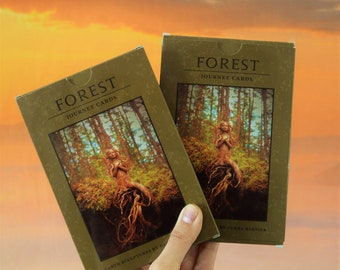 TWO Journey Cards, Forest Decks, Art Collection with Guidance Questions by Debra Bernier, ShapingSpirit