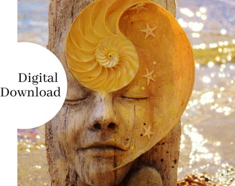 Digital Image, High Resolution, Instant Download, Print at Home, The Dreamer, Printable Art Shaping Spirit
