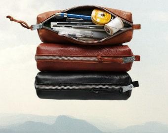 Leather PENCIL CASE Leather Pencil Pouch