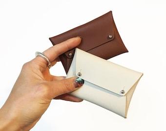LEATHER ENVELOPE WALLET   Minimalist Wallet   Business Card holder   Card Wallet