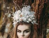 Adult Mermaid Crown, Seashell Crown, Mermaid Headpiece, Beach Wedding, Mermaid Costume, Shell Crown, Crown, Tiara, Seashell Tiara
