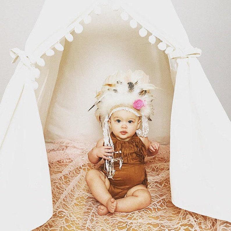 82ac1606d Baby Girls Feather Headdress Indian Feather Headdress Wild