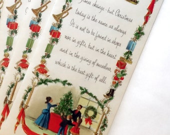 Vintage Christmas Cards, Set of 10