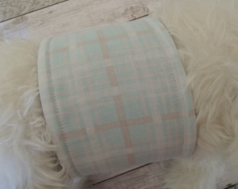 Dog Diaper Belly Band, When Skies are Grey Plaid Fabric, For Male Dogs, Personalized