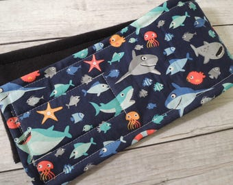 Dog Diaper Belly Band, Shark Town, End Marking, Male Dog, Personalized, FAST Shipping