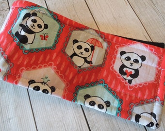 Dog Diaper Belly Band, Panda Fabric in Red, For Male Dogs, Personalized, FAST Shipping