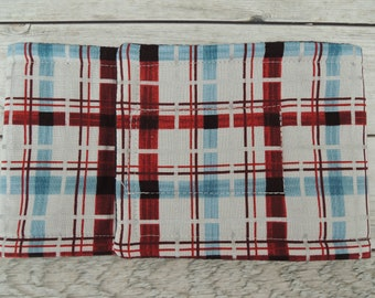 Dog Diaper Belly Band, Christmas Plaid Fabric, Stops Marking, Tapered or Straight, Personalized, Fast Shipping
