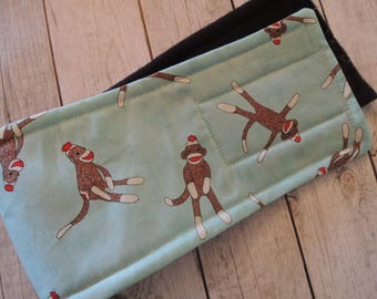 Dog Diaper Belly Band,  Stop Marking,  Sock Monkey Fabric,  Personalized, FAST Shipping