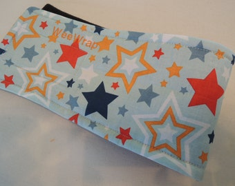 Dog Diaper Belly Band, End Marking, Male Dog, Tossed Stars Fabric,  Personalized, Fast Shipping