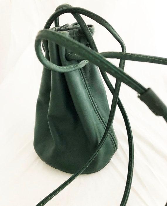 Coach - Littleton Bucket Drawstring Green Leather
