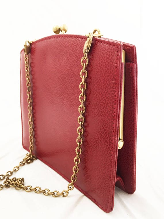 d057a5eeeb Coach-Madison Tuxedo Bag Red Garnet Pebbled Leather Solid
