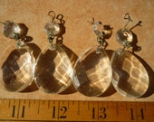 lot of 4 antique,cut-glass crystal drops,1.5 39 39 length x 1 1 4 39 39 w.with small octaganol prism from 1940s glass chandelier