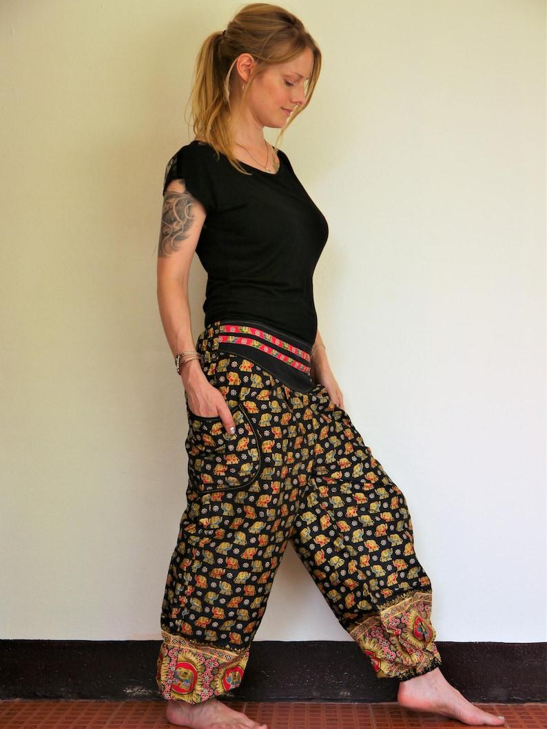 eb3ce0101cb Hippie Thai Joggers Harem pants women Amonchai Red Blue