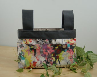 Walker Bag: Soft multi-colored floral bag.