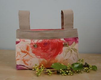 Walker Bag: Soft floral print with a peach lining.
