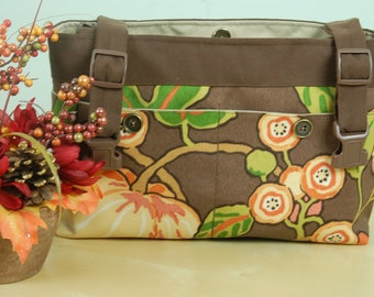 SPECIALLY PRICED  Powerchair Bag, Wheelchair Purse, Walker Organizer,Wheel Chair Accessory -  Our Version of Pumpkin Spice.