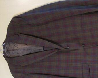 Towncraft JC Penneys Plaid Sport Coat Jacket 50s 60s Measurements included in Description