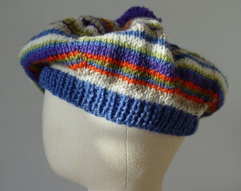 Children's Hat, Beret, Knitted Hat, 1940's Style, UK Seller, Pure Wool, Tam